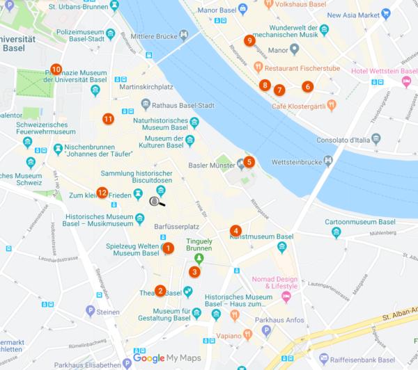 Situationsplan Krimi-Trail Kids Basel